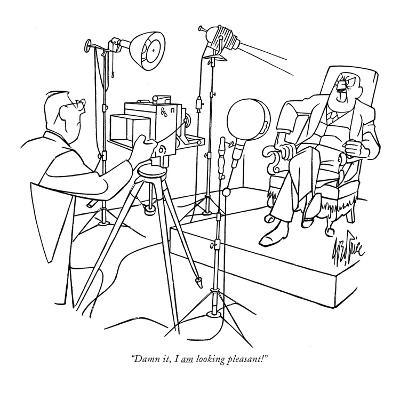 """Damn it, I am looking pleasant!"" - New Yorker Cartoon-George Price-Premium Giclee Print"
