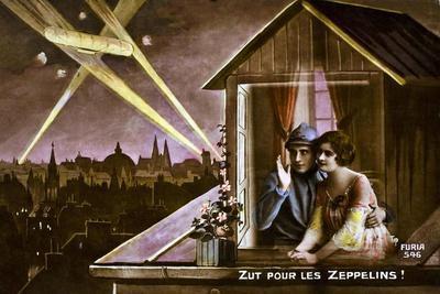 Damn the Zeppelins!, 1915--Giclee Print