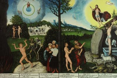 Damnation and Redemption. Law and Grace-Lucas Cranach the Elder-Giclee Print