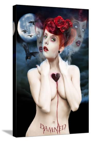 Damned-Piper Rudich-Stretched Canvas Print