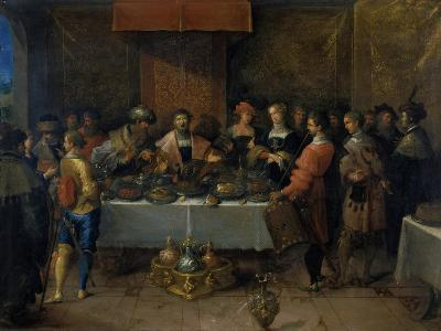 Damocles at the Table, before 1620-Frans Francken II-Giclee Print