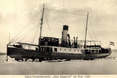 Dampfer Bad Stepenitz Im Eise Im Jahre 1929--Giclee Print