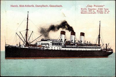 Dampfer Cap Polonio Der Hsdg Auf Hoher See--Giclee Print