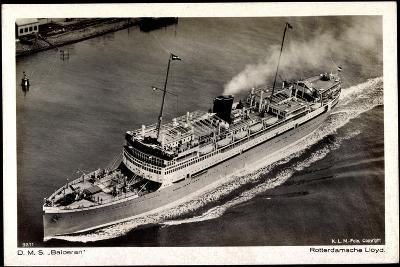 Dampfer D.M.S. Baloeran, Rotterdamsche Lloyd--Giclee Print