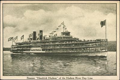 Dampfer Hendrick Huson, Hudson River Day Line--Giclee Print