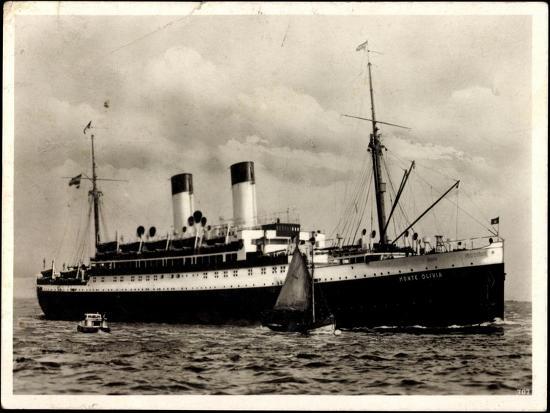 Dampfer Monte Olivia Der HSDG, Segelboot, Beiboot--Giclee Print