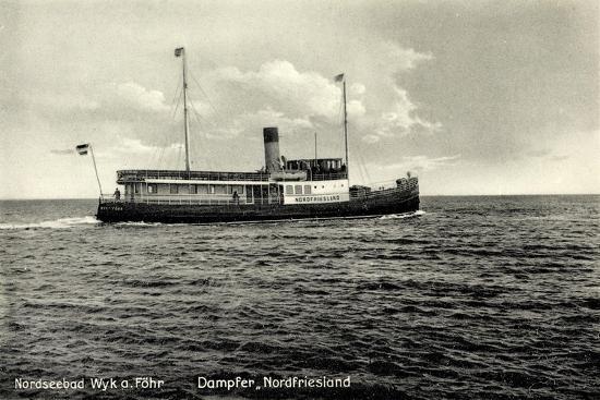 Dampfer Nordfriesland Wyker Dampfschiffs Reederei Giclee Print By