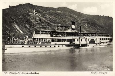 Dampfer Rheingold, FlUSS Rhein, K?ln D?sseldorf--Giclee Print