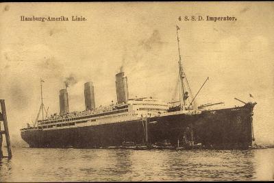 Dampfer S.S.D. Imperator, Hapag, Transatlantik--Giclee Print