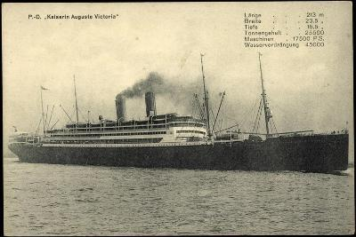 Dampfschiff Kaiser Auguste Victoria Der Hapag--Giclee Print