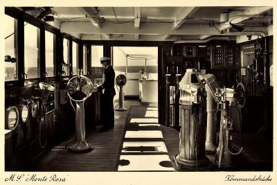 Dampfschiff Monte Rosa, HSDG, Kommandobrücke--Giclee Print