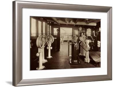 Dampfschiff Monte Rosa, HSDG, Kommandobrücke--Framed Giclee Print