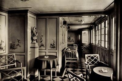 Dampfschiff Stuttgart, Lloyd Bremen, Laube an Deck--Giclee Print