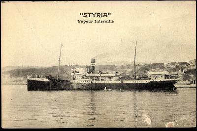 Dampfschiff Styria Am Hafen, Vapeur Interalli?--Giclee Print
