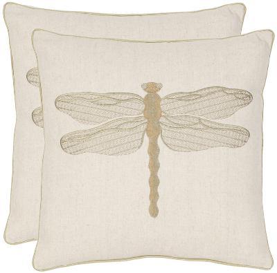 Damselfly Pillow Pair - Cream--Home Accessories