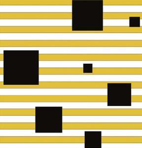 Black Block on Stripe by Dan Bleier