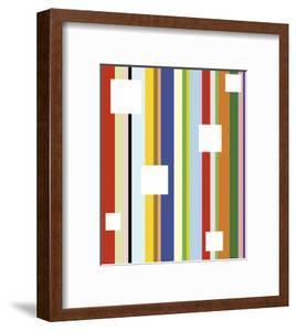 White Square on Stripe by Dan Bleier