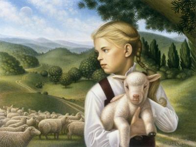 Girl with Lamb by Dan Craig