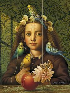 Girl with Parakeets by Dan Craig