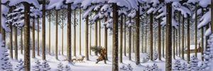 Winter Scene Man with Tree by Dan Craig