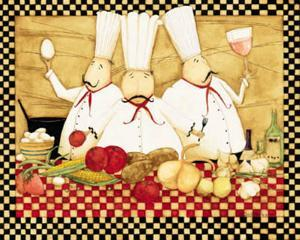 Three Chefs at Work by Dan Dipaolo