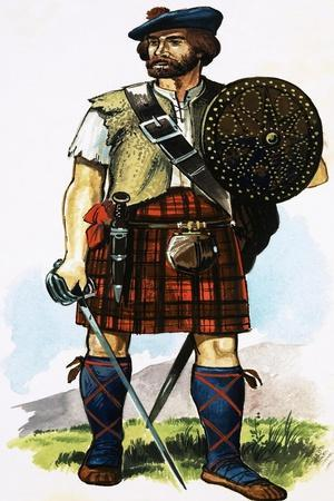 Scottish Highlander of the 1745 Jacobite Uprising