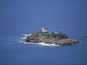 Aerial View of Nubble Light, ME by Dan Gair