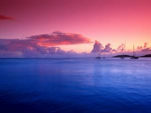 Boats on the Bay at Sunset, Culebra, Puerto Rico by Dan Gair