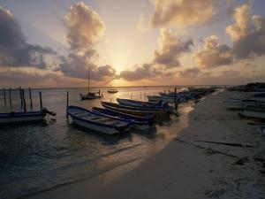 Fishing Boats at Sunset, Mexico by Dan Gair