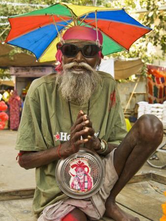 Portrait of Sadhu Wannabe, One of Many Fake Holy Men Looking for Donations During Pushkar Mela.