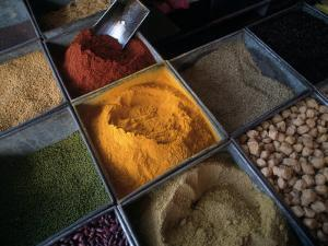 Spices, Bombay Market, Bombay, India by Dan Gair