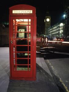 Telephone Booth, London, England by Dan Gair