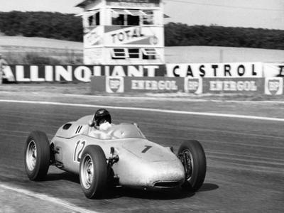 Dan Gurney Driving a Porsche, French Grand Prix, Rheims, 1961
