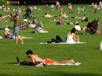 Lawn Scene, Central Park, New York City, New York