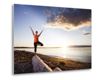 Tree Pose During Sunset on the Beach of Lincoln Park, West Seattle, Washington