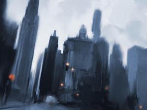 Foggy Evening in the City by Dan Meneely
