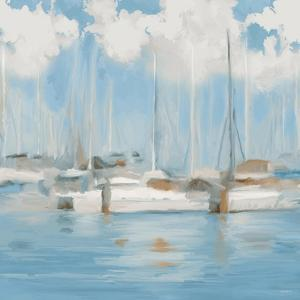 Golf Harbor Boats I by Dan Meneely