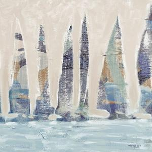Muted Sail Boats Square II by Dan Meneely