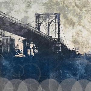 NY Bridge at Dusk I by Dan Meneely