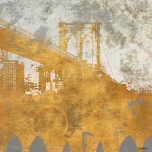 NY Gold Bridge at Dusk I by Dan Meneely