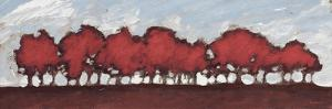 Tree Row Sunset In Red by Dan Meneely