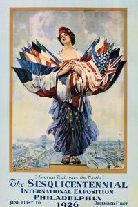 The Sesquicentennial International Exposition - Philadelphia 1926 Poster by Dan Smith