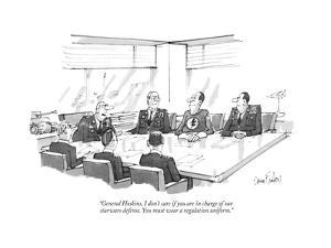 """""""General Hoskins, I don't care if you are in charge of our star-wars defen?"""" - New Yorker Cartoon by Dana Fradon"""