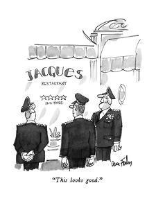 """This looks good."" - New Yorker Cartoon by Dana Fradon"