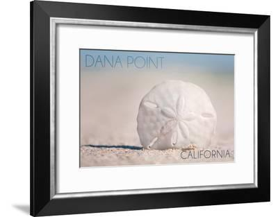 Dana Point, California - Sand Dollar and Beach-Lantern Press-Framed Art Print