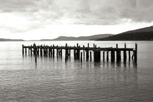Lonely Dock BW by Dana Styber