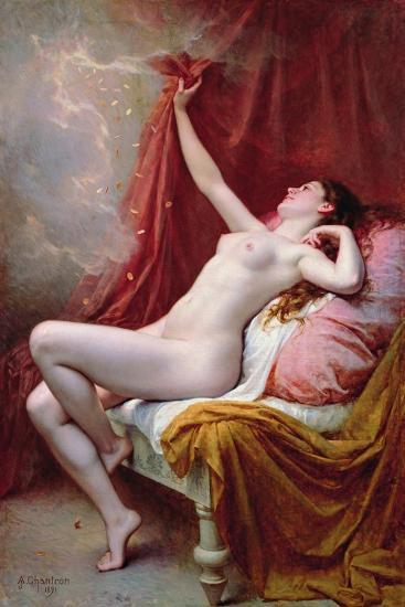 Danae, 1891-Alexandre-Jacques Chantron-Giclee Print