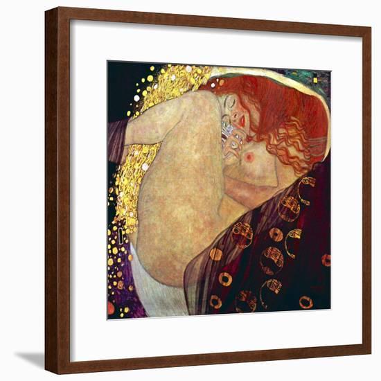 Danae, 1907-1908-Gustav Klimt-Framed Art Print