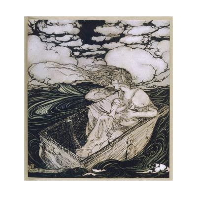 Danae Cast Adrift (1903)-Arthur Rackham-Giclee Print