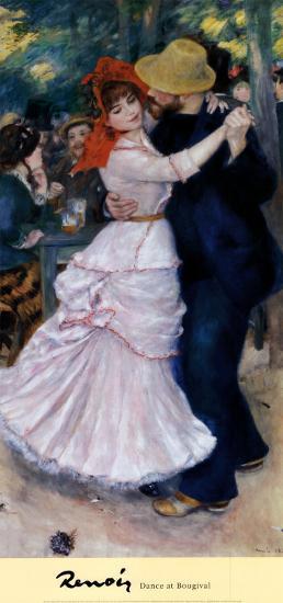 Dance at Bougival-Pierre-Auguste Renoir-Art Print